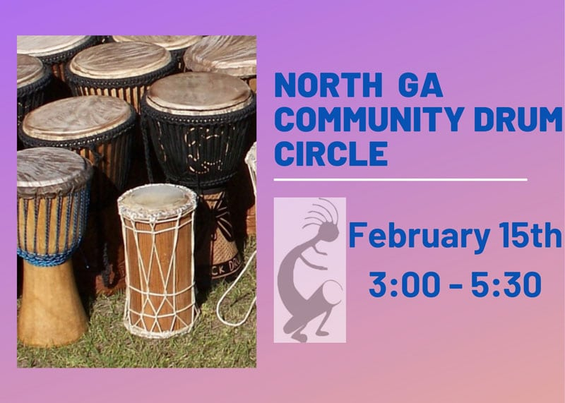 Community Drum Event at A Garden For Wellness