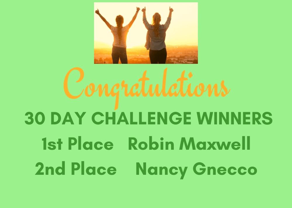 30 day challenge winners Volunteer Flyer at A Garden For Wellness